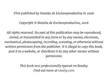 Texto inicial del copyright en Reedsy