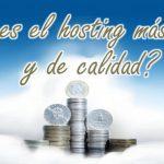 ¿Cuál es el hosting más barato y de calidad? Hosting barato