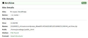 Paso 1 del instalador de WordPress en remoto con Duplicator: archivo