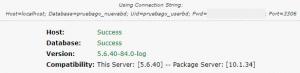 Segundo paso del instalador de WordPress en remoto con Duplicator: test de conexión a la base de datos