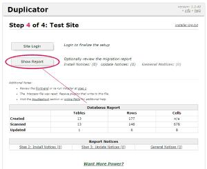 Cuarto paso del instalador de WordPress en remoto con Duplicator: comprobación de la migración a remoto