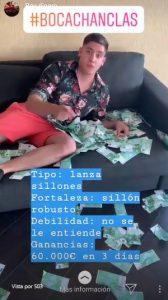 Bocachancla de sofá que dice ayudarte a ganar dinero
