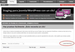 Herramienta de staging para WordPress y Joomla