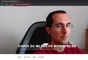 Prueba de staging para WordPress
