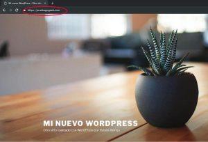 Prueba de staging para WordPress original