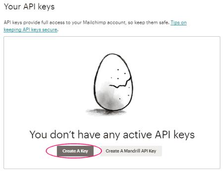 Crear clave de API de MailChimp para MC4WP