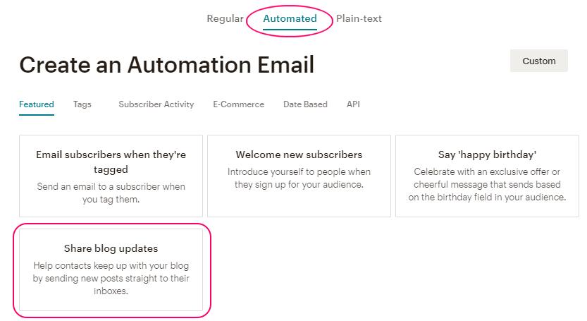 Crear una campaña Automated en MailChimp