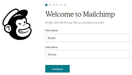 Nombre y apellido en MailChimp