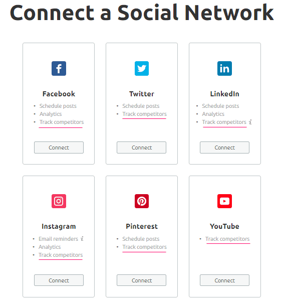 Conectar los perfiles de redes sociales