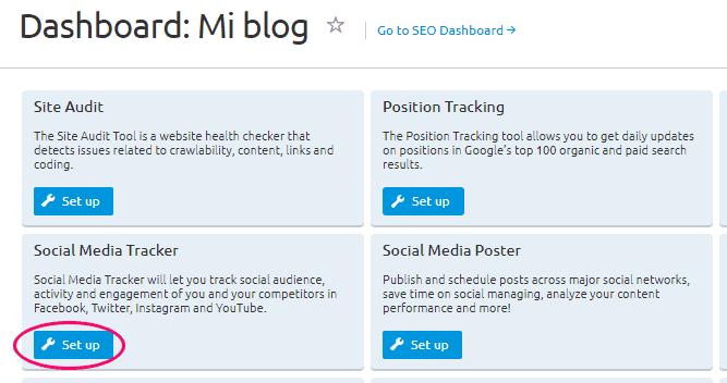 Configurar Social Media Tracker