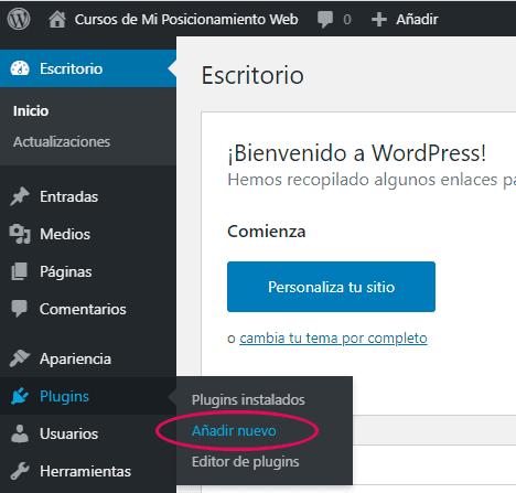 Añadir un nuevo plugin en WordPress