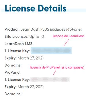 Clave de licencia de LearnDash