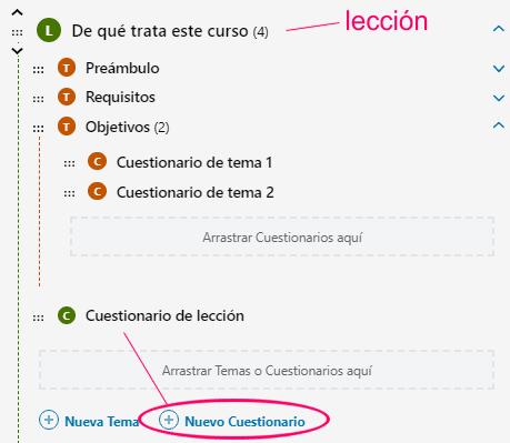 Crear cuestionario de lección en LearnDash