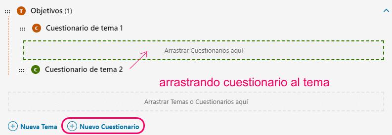 Crear cuestionario de tema en LearnDash