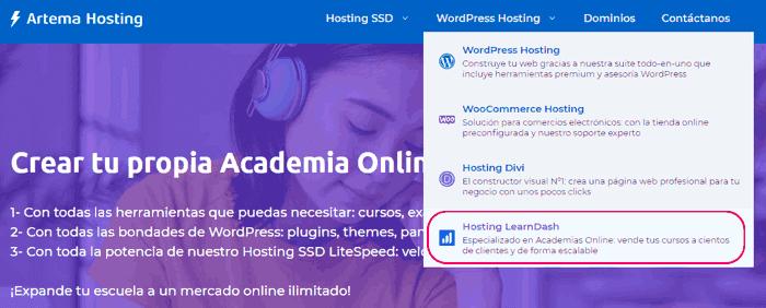 Hosting para LearnDash