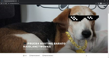 Hosting español de prueba de Raiola Networks