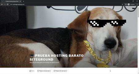 Hosting español de prueba de Siteground