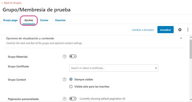 Configuración de la membresía en LearnDash