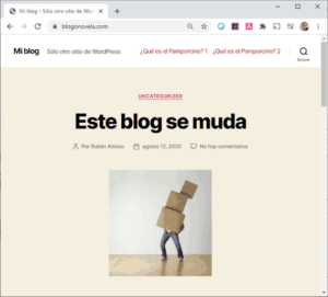 Blog migrado de Blogger a WordPress