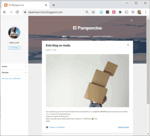 Blog original en Blogger