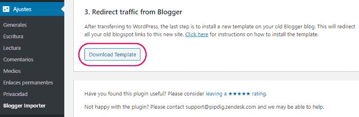 Redirección de tráfico desde Blogger a WordPress