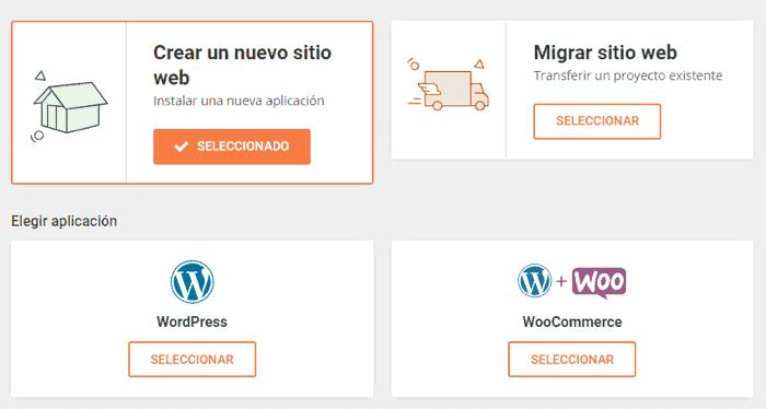 Asistente de instalación automática de WordPress en SiteGround