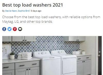 Ejemplo de web de amazon afiliados listado lavadoras