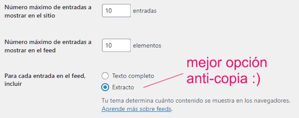 Configurar el número máximo de entradas a mostrar en WordPress